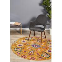 Rug Culture Babylon 210 Floor Area Carpeted Rug Modern Round Rust 240X240cm