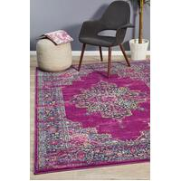 Rug Culture Babylon 211 Floor Area Carpeted Rug Modern Rectangle Fuchsia 400X300cm