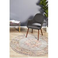 Rug Culture Babylon 211 Floor Area Carpeted Rug Modern Round Grey 200X200cm