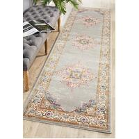 Rug Culture Babylon 211 Floor Area Carpeted Rug Modern Runner Grey 500X80cm