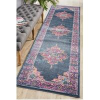 Rug Culture Babylon 211 Floor Area Carpeted Rug Modern Runner Navy 500X80cm