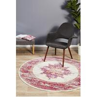 Rug Culture Babylon 211 Floor Area Carpeted Rug Modern Round Pink 240X240cm