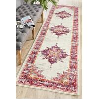 Rug Culture Babylon 211 Floor Area Carpeted Rug Modern Runner Pink 500X80cm