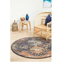Rug Culture LEGACY 854 Floor Area Carpeted Rug Modern Round Navy 240X240cm