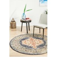 Rug Culture LEGACY 855 Floor Area Carpeted Rug Modern Round Navy 150X150cm