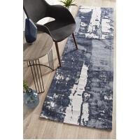 Rug Culture Magnolia 11 Floor Area Carpeted Rug Modern Runner Denim 300X80cm