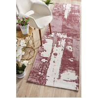 Rug Culture Magnolia 11 Floor Area Carpeted Rug Modern Runner Rose 500X80cm