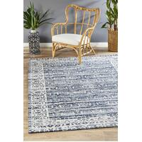 Rug Culture Magnolia 88 Floor Area Carpeted Rug Modern Rectangle Denim 225X155cm