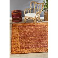 Rug Culture Magnolia 88 Floor Area Carpeted Rug Modern Rectangle Paprika 280X190cm