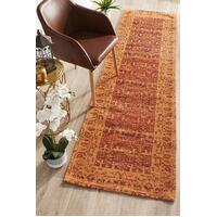 Rug Culture Magnolia 88 Floor Area Carpeted Rug Modern Runner Paprika 500X80cm