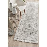 Rug Culture Magnolia 88 Floor Area Carpeted Rug Modern Runner Silver 300X80cm