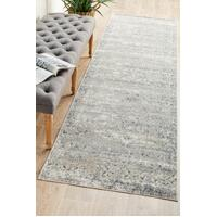 Rug Culture Esquire Segments Floor Area Carpeted Rug Traditional Runner Blue 400X80cm