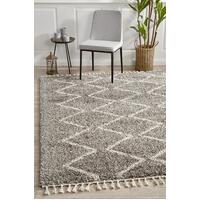 Rug Culture Saffron 11 Floor Area Carpeted Rug Shag Rectangle Grey 330X240cm