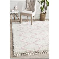 Rug Culture Saffron 11 Floor Area Carpeted Rug Shag Rectangle Pink 170X120cm