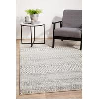 Rug Culture CHROME HARPER Floor Area Carpeted Rug Transitional Rectangle Silver & Off White 400X300CM