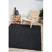 Rug Culture BONDI BLACK Floor Area Carpeted Rug Modern Rectangle Black 320X230CM