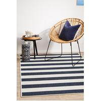 Rug Culture SEASIDE 4444 Floor Area Carpeted Rug Outdoor Rectangle Navy & White 160X110CM