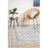 Rug Culture SEASIDE 5555 Floor Area Carpeted Rug Outdoor Rectangle White & Navy 280X190CM