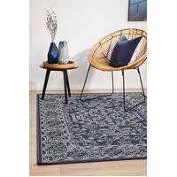 Rug Culture SEASIDE 5555 Floor Area Carpeted Rug Outdoor Rectangle Navy & White 160X110CM
