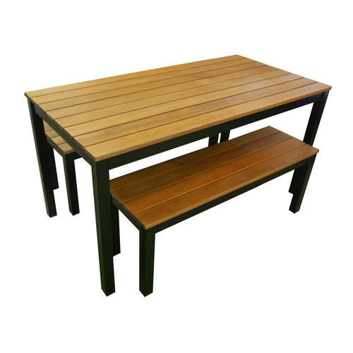 Dining Table And Bench Seats, Outdoor Timber Dining Table With Bench Seats